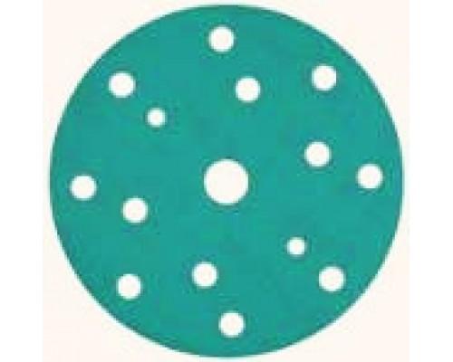 Круг шлифовальный SUNMIGHT FILM, Ø150мм, 14+1 отв., Р80 зелёные